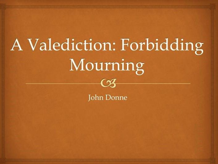A Valediction: Forbidding