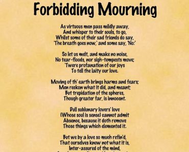 a valediction forbidding mourninga valediction forbidding mourning