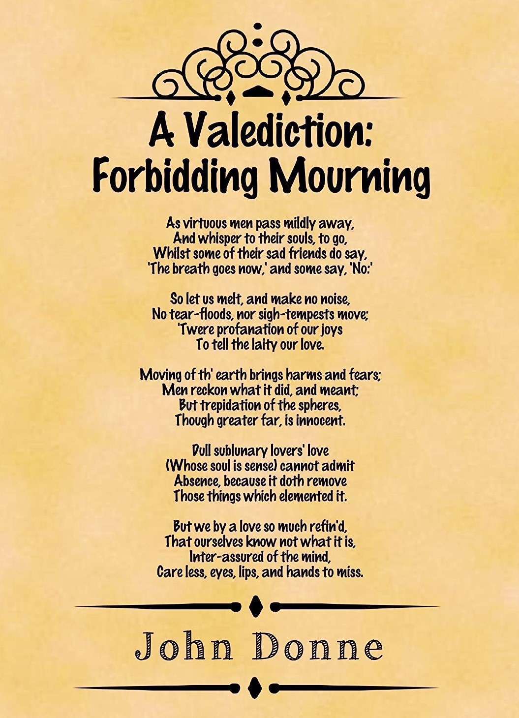 A Valediction Forbidding Mourning Summary And Analysi Good Study John Donne Theme Critically Analyse Poem