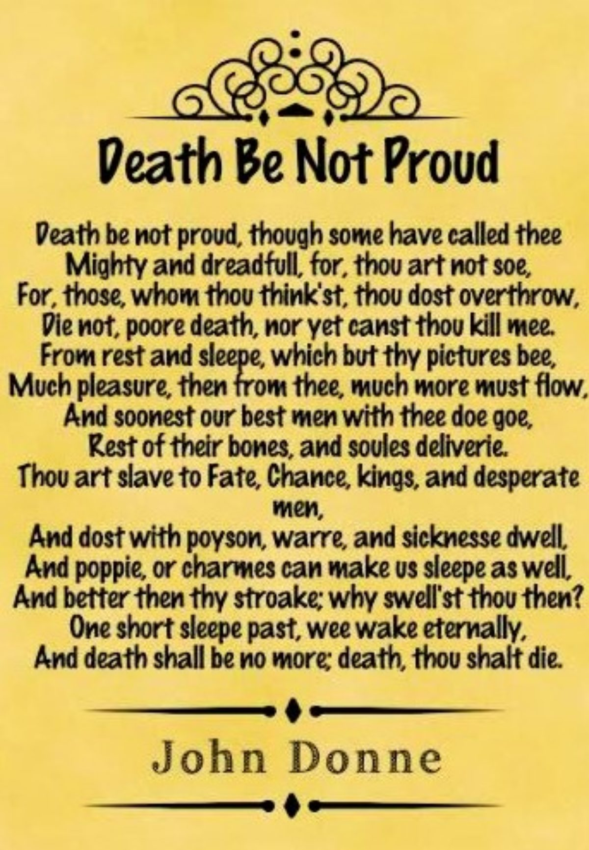 Death Be Not Proud Poem Summary And Analysi Good Study John Donne Theme