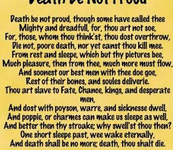 death be not proud summary