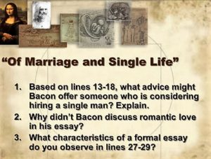 of marriage and single life ..