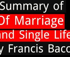 of marriage and single life