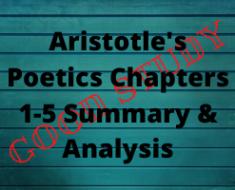 Aristotle's Poetics Chapters 1-5