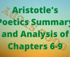 Aristotle's Poetics Chapters 6-9