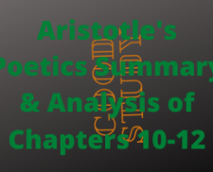 Aristotle's Poetics Chapters 10-12