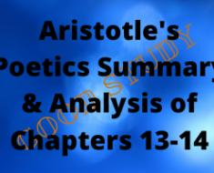Aristotle's Poetics Chapters 13-14
