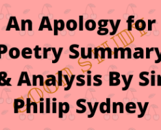 Apology for Poetry