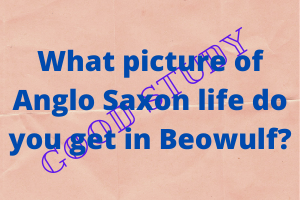 What picture of Anglo Saxon life do you get in Beowulf?