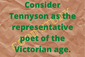 Tennyson as the representative poet