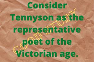Tennyson as the representative poet