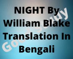 NIGHT - William Blake