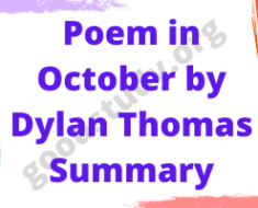 Poem in October