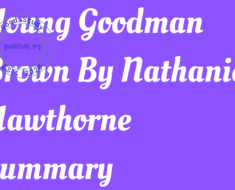 Young Goodman Brown By Nathaniel Hawthorne Summary