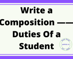 Duties Of a Student