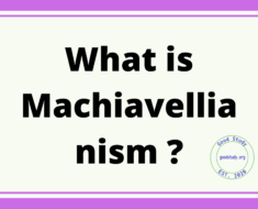 What is Machiavellianism ?