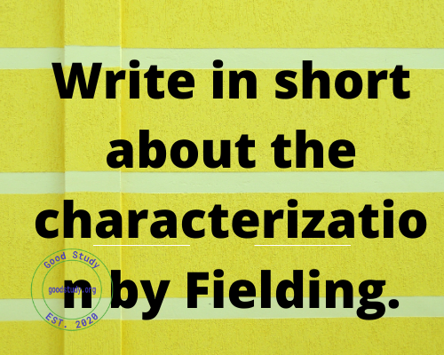 Write in short about the characterization by Fielding