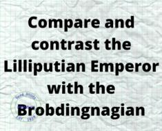 Compare and contrast the Lilliputian Emperor