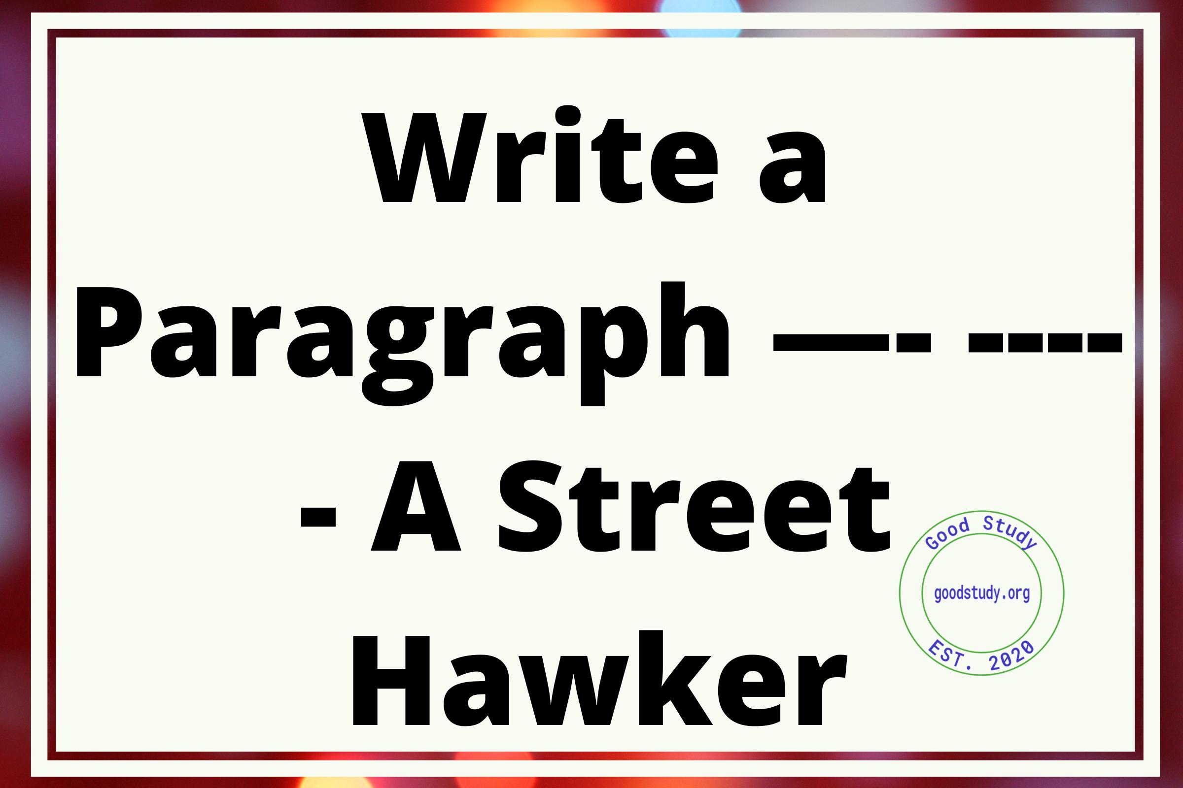 A Street Hawker