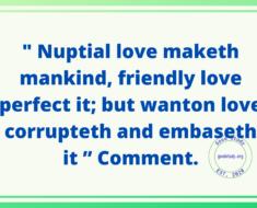 Nuptial love
