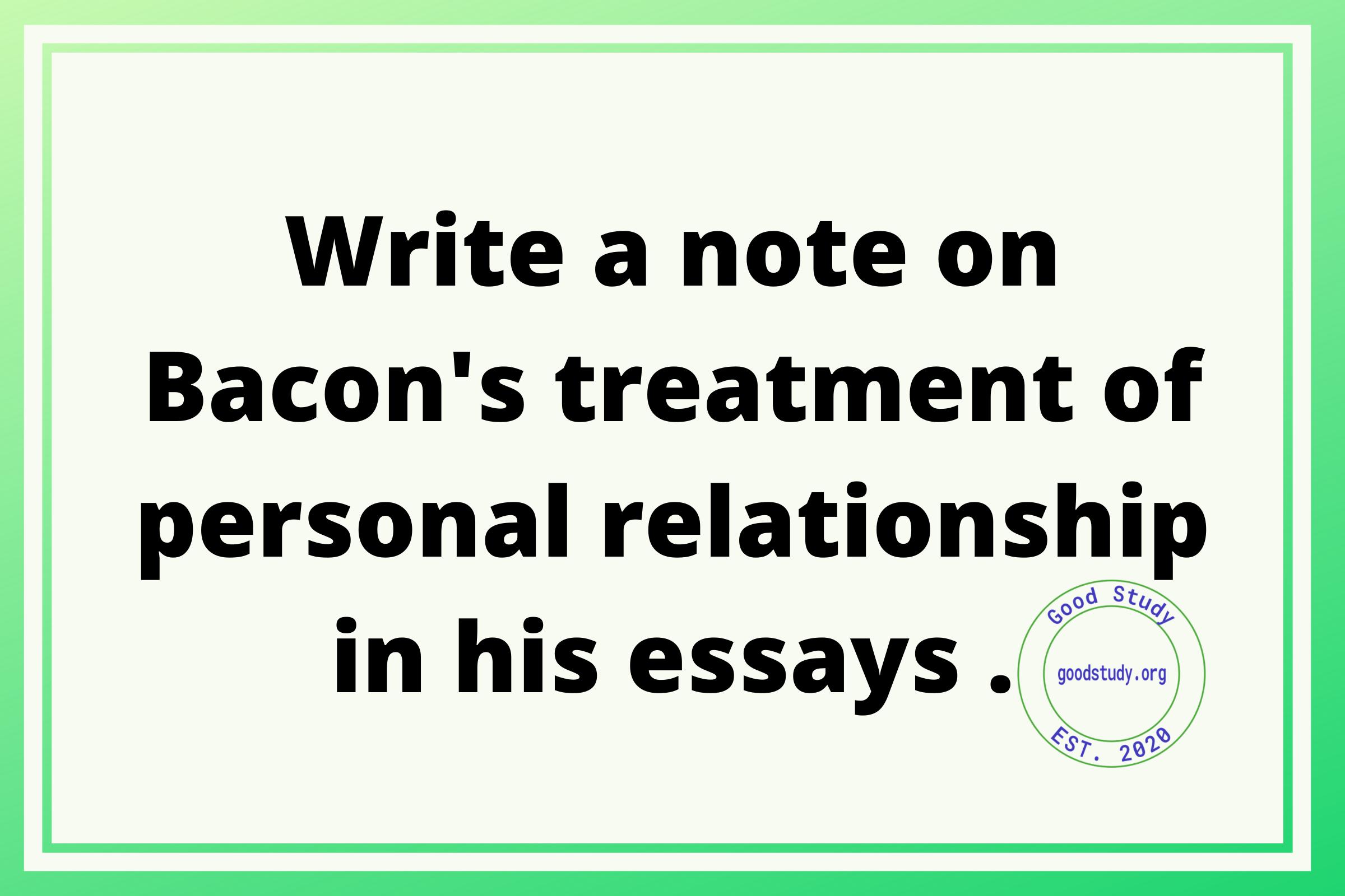 Bacon's treatment