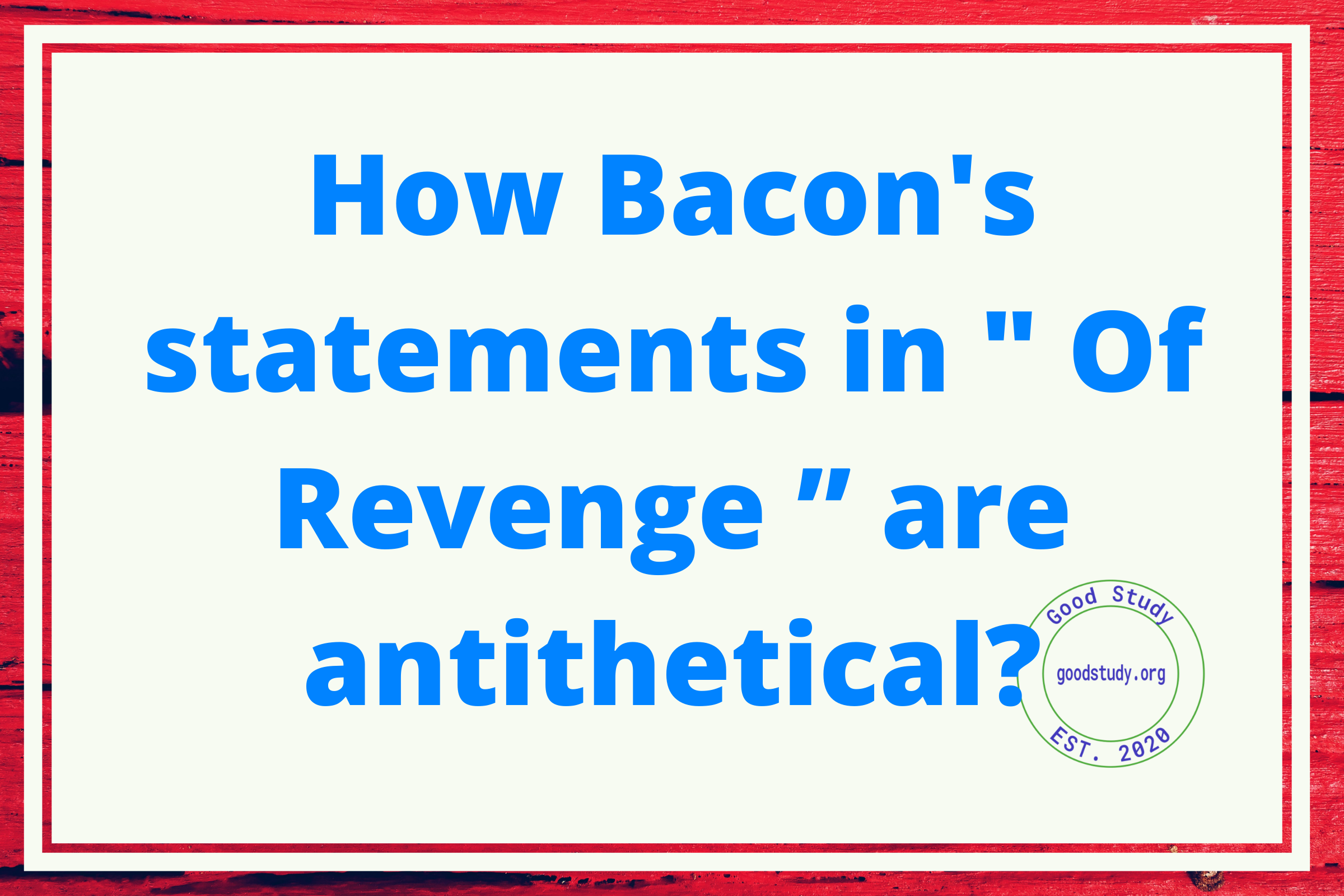 How Bacon's statements in