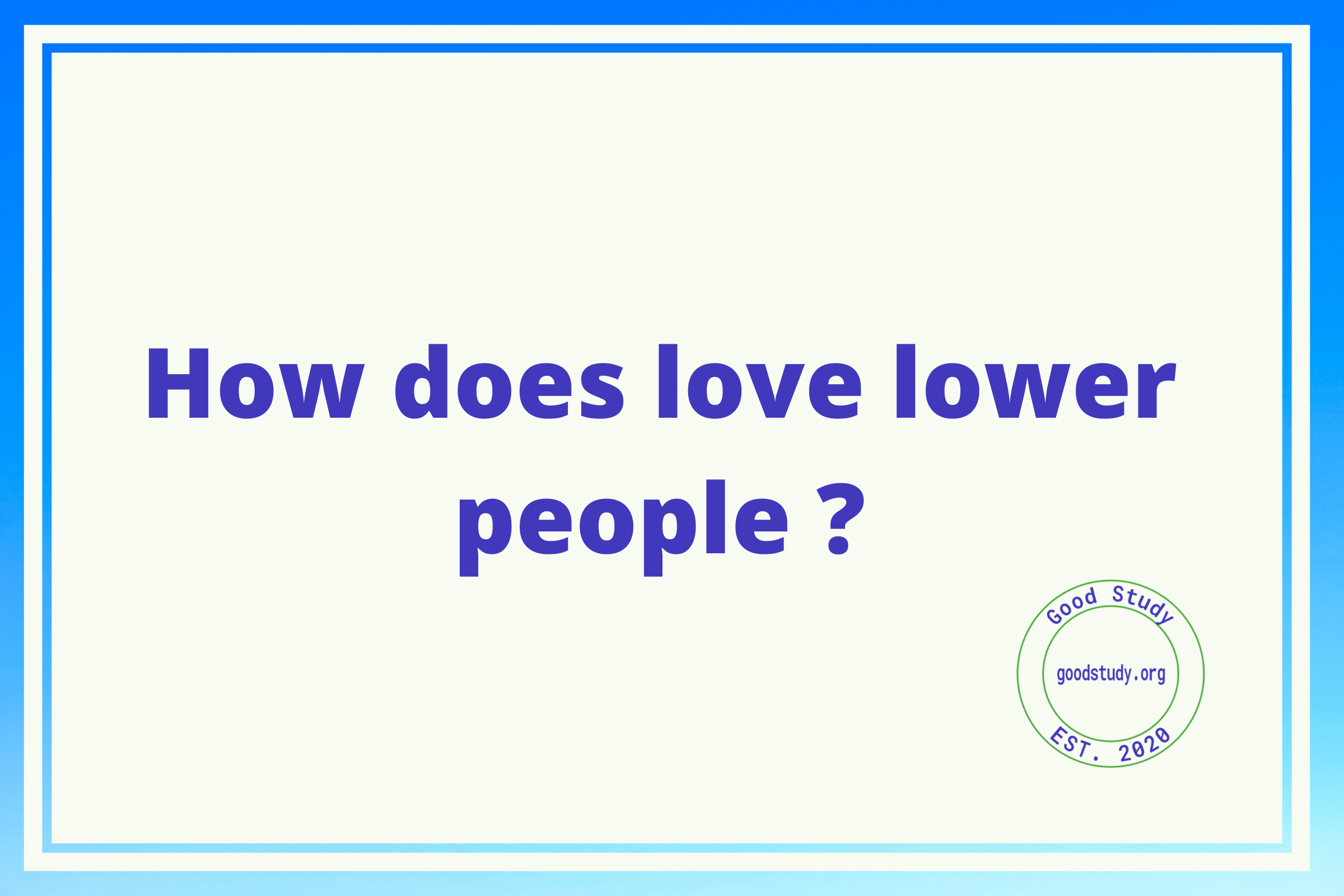 love lower people