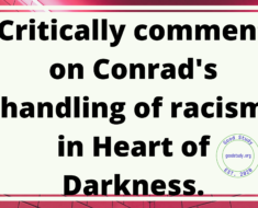 Critically comment on Conrad's handling of racism in Heart of Darkness