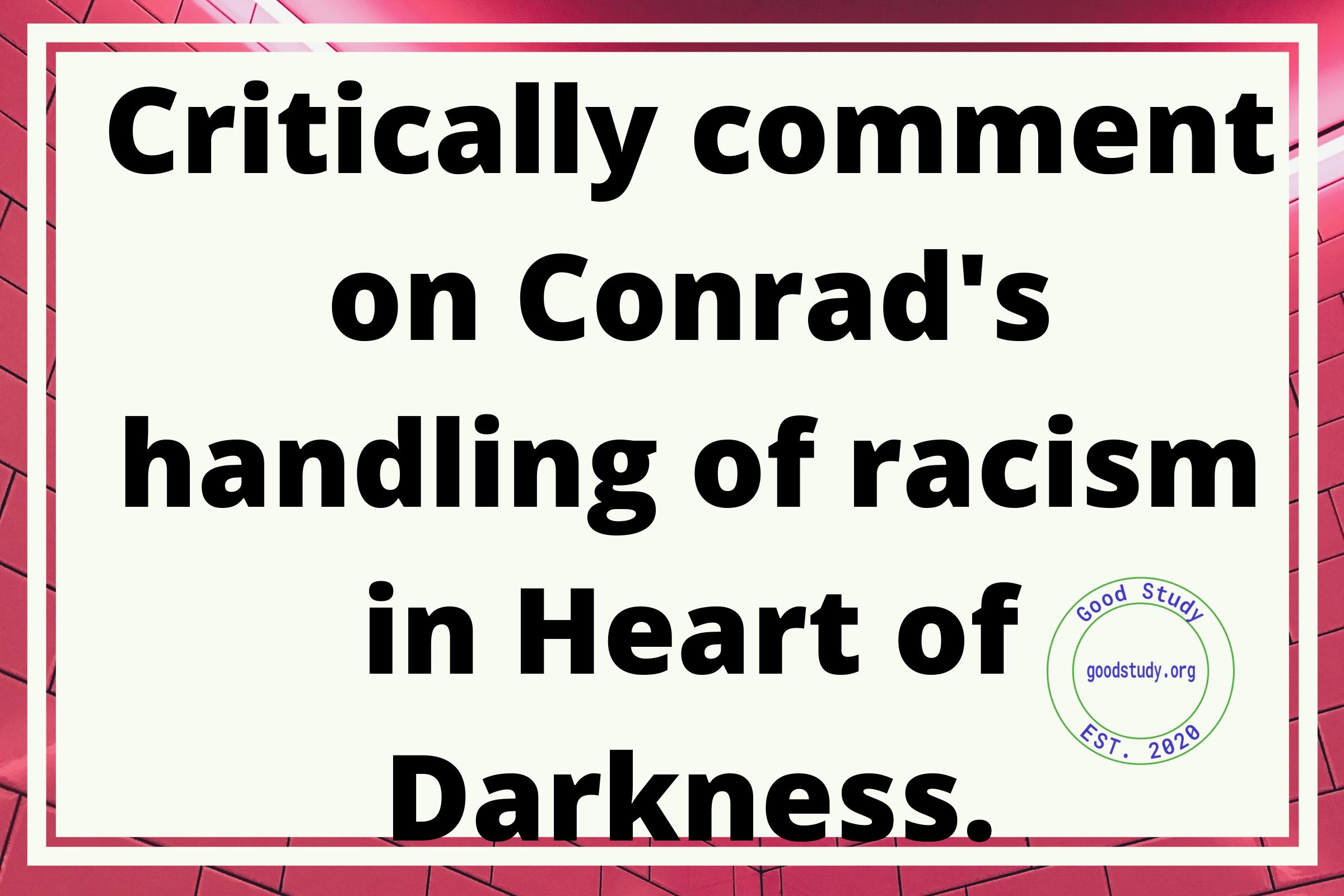 racism in Heart of Darkness