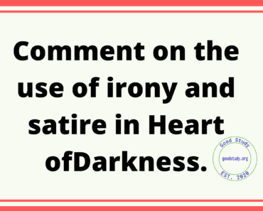 Comment on the use of irony and satire in Heart of Darkness