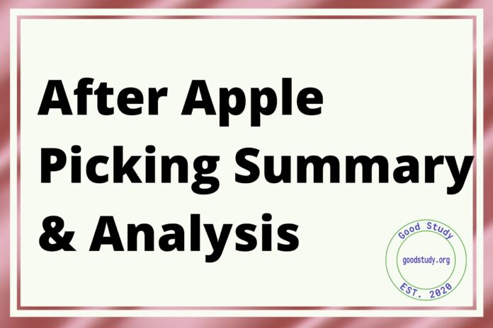 After Apple Picking Summary & Analysis