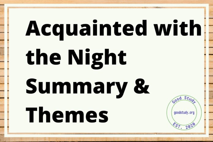 Acquainted with the Night Summary & Themes